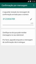 Huawei G620s - Aplicações - Como configurar o WhatsApp -  8
