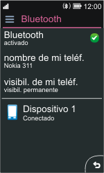 Nokia Asha 311 - Bluetooth - Conectar dispositivos a través de Bluetooth - Paso 10