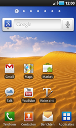 Samsung I9000 Galaxy S - Internet - aan- of uitzetten - Stap 2