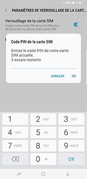 Samsung Galaxy S8+ - Sécuriser votre mobile - Personnaliser le code PIN de votre carte SIM - Étape 8