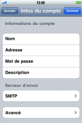 Apple iPhone 4 - E-mail - Configuration manuelle - Étape 12