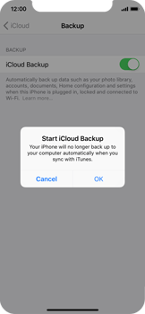 Apple iPhone X - Device maintenance - Create a backup of your data - Step 10