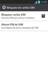 LG Optimus L5 - Segurança - Como trocar o código PIN do seu celular - Etapa 6