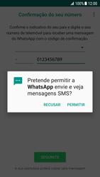 Samsung Galaxy S7 - Android Nougat - Aplicações - Como configurar o WhatsApp -  13