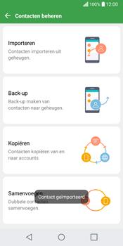 LG Q6 (LG M700n) - Contacten en data - Contacten kopiëren van SIM naar toestel - Stap 13