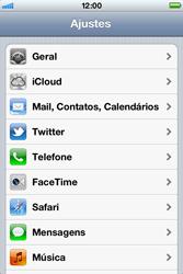 Apple iPhone iOS 5 - Rede móvel - Como ativar e desativar uma rede de dados - Etapa 3
