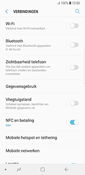 Samsung Galaxy S8 - Android Oreo (SM-G950F) - NFC - NFC activeren - Stap 7