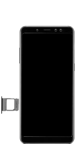 Samsung galaxy-a8-2018-sm-a530f-android-pie - Instellingen aanpassen - SIM-Kaart plaatsen - Stap 4