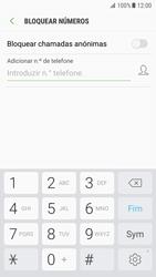 Samsung Galaxy S7 - Android Nougat - Chamadas - Como bloquear chamadas de um número -  7