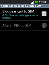 LG E400 - Segurança - Como ativar o código PIN do cartão de telemóvel -  6
