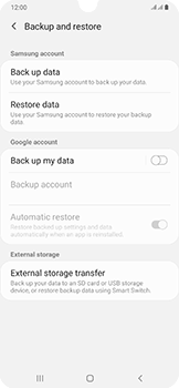Samsung Galaxy A50 - Data - Create a backup with your account - Step 6