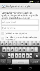Sony C1905 Xperia M - E-mail - Configuration manuelle - Étape 5