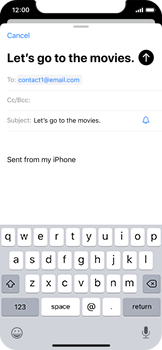 Apple iPhone XS - iOS 13 - Email - Sending an email message - Step 7