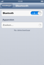 Apple iPhone 4S met iOS 6 (Model A1387) - Bluetooth - Headset, carkit verbinding - Stap 5