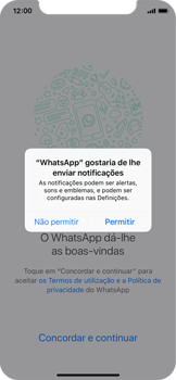 Apple iPhone X - Aplicações - Como configurar o WhatsApp -  6