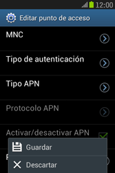 Samsung S6310 Galaxy Young - Mensajería - Configurar el equipo para mensajes multimedia - Paso 16