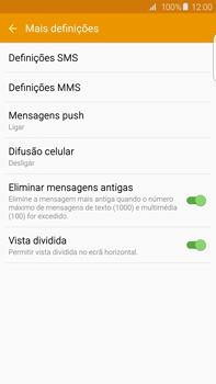Samsung Galaxy S6 Edge + - SMS - Configurar o centro de mensagens -  7