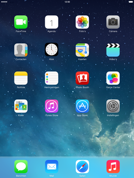 Apple iPad Air (Retina) met iOS 7 - WiFi - Handmatig instellen - Stap 1