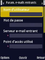 Nokia N86 - E-mail - Configuration manuelle - Étape 22