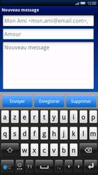 Sony Ericsson Xperia X10 - E-mail - Envoi d