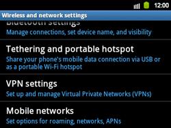 Samsung B5510 Galaxy TXT - Network - Usage across the border - Step 5