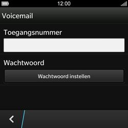 BlackBerry Q10 - Voicemail - Handmatig instellen - Stap 8