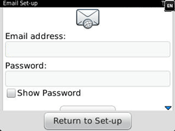 BlackBerry 9320 Curve - E-mail - Manual configuration - Step 7