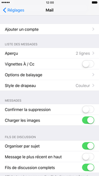 Apple Apple iPhone 6 Plus iOS 10 - E-mail - Configuration manuelle - Étape 5