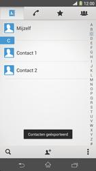 Sony Xperia Z1 4G (C6903) - Contacten en data - Contacten kopiëren van toestel naar SIM - Stap 10