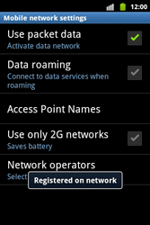 Samsung S5690 Galaxy Xcover - Network - Usage across the border - Step 10