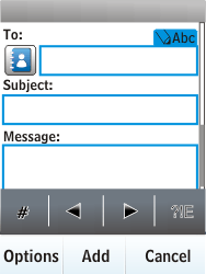 Nokia X3-02 - E-mail - Sending emails - Step 7