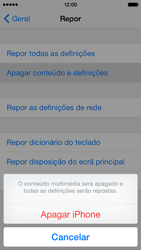 Apple iPhone 5s iOS 8 - Repor definições - Como repor definições de fábrica do telemóvel -  7