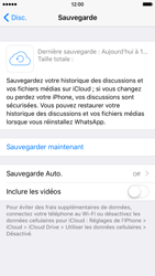 Apple iPhone 6 iOS 9 - WhatsApp - Sauvegarder les discussions WhatsApp - Étape 10