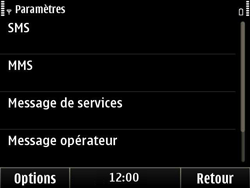 Nokia E6-00 - SMS - configuration manuelle - Étape 5