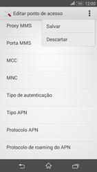 Sony Xperia E4G - Internet (APN) - Como configurar a internet do seu aparelho (APN Nextel) - Etapa 16