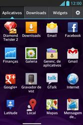LG Optimus L5 - Email - Como excluir uma conta de e-mail - Etapa 3
