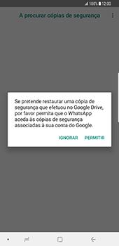 Samsung Galaxy S9 Plus - Aplicações - Como configurar o WhatsApp -  13