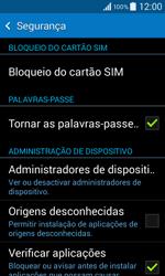 Samsung Galaxy Core II - Segurança - Como ativar o código PIN do cartão de telemóvel -  5