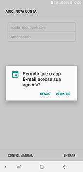 Samsung Galaxy J6 - Email - Como configurar seu celular para receber e enviar e-mails - Etapa 12