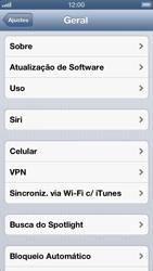 Apple iPhone iOS 6 - Rede móvel - Como ativar e desativar uma rede de dados - Etapa 4