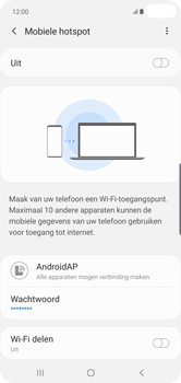 Samsung galaxy-s10-plus-dual-sim-sm-g975f - WiFi - Mobiele hotspot instellen - Stap 8