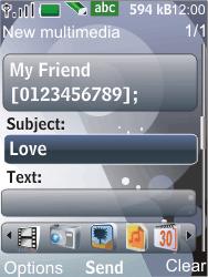 Nokia 7210 supernova - MMS - Sending pictures - Step 10