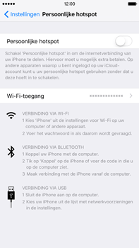 Apple iPhone 6s Plus met iOS 9 (Model A1687) - WiFi - Mobiele hotspot instellen - Stap 4