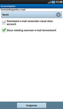 Samsung P1000 Galaxy Tab - E-mail - handmatig instellen - Stap 10