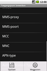 Samsung I7500 Galaxy - MMS - Handmatig instellen - Stap 12