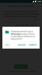 BQ Aquaris U - Aplicações - Como configurar o WhatsApp -  8