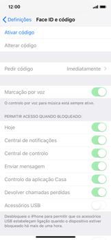 Apple iPhone X - iOS 12 - Segurança - Como ativar o código de bloqueio do ecrã -  4