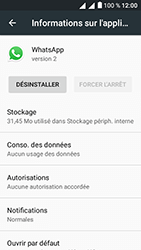 Alcatel U5 - Applications - Supprimer une application - Étape 6