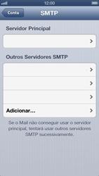 Apple iPhone iOS 6 - Email - Como configurar seu celular para receber e enviar e-mails - Etapa 18