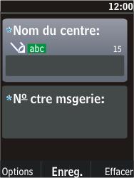 Nokia C2-05 - SMS - Configuration manuelle - Étape 8